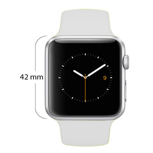 4090b45b3 Apple Watch Series 1-42mm Stainless Steel Case with White Sport Band ...