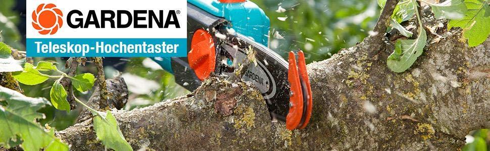 Gardena 8868-20 - Sierra de Pértiga Telescópica Eléctrica TCS 720/20. Cabezal giratorio y asa telescópica. Motor de 720W. Longitud de mango de 20 cm