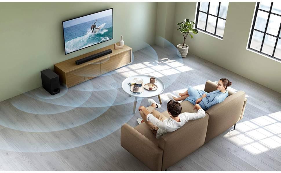 Sony 2.1ch 320W Soundbar with Wireless Subwoofer, HT-S350