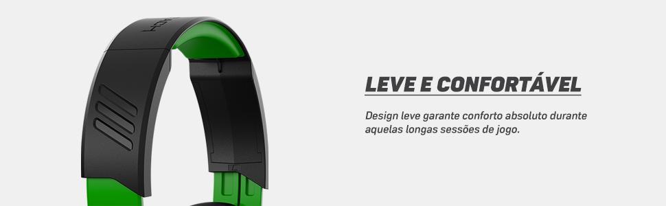 Design leve e confortável