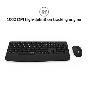1000 DPI tracking engine