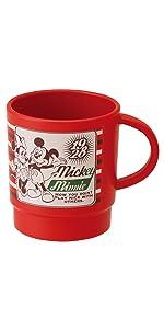 スケーター スタッキング カップ 340ml バッジコレクション3 ミッキーマウス & ミニーマウス ディズニー KP1