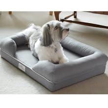 Cama de espuma viscoelástica para perros medianos y grandes, Gris ...