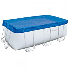 Bestway 58232 - Cubierta para piscina de estructura splash 404 × 201 cm / 412 × 201 cm, medidas de cobertor 3.96 mx 1.85 m