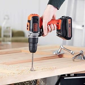 Black+Decker Hammer Drill 18V, BCD003C2K-GB, 2 x 1.5Ah Battery Kitbox