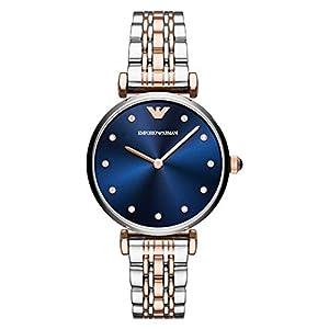 Emporio Armani Women's Quartz Watch, Analog Display and Stainless Steel Strap AR11092