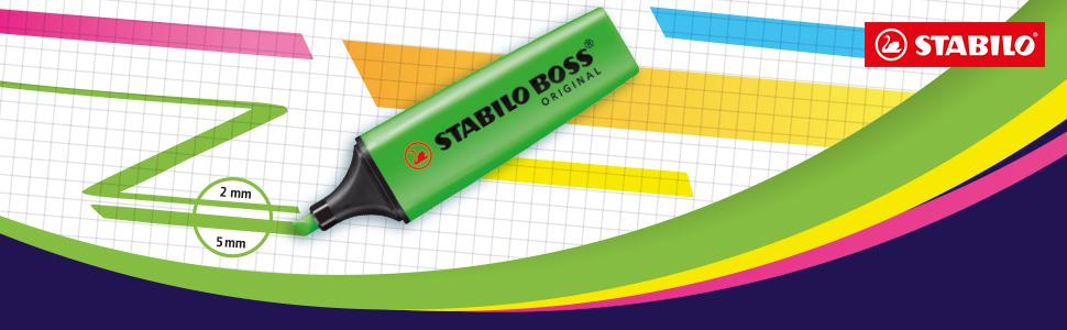 STABILO, highlighter, marker, pen, pencil case, STABILO BOSS ORIGINAL, STABILO BOSS