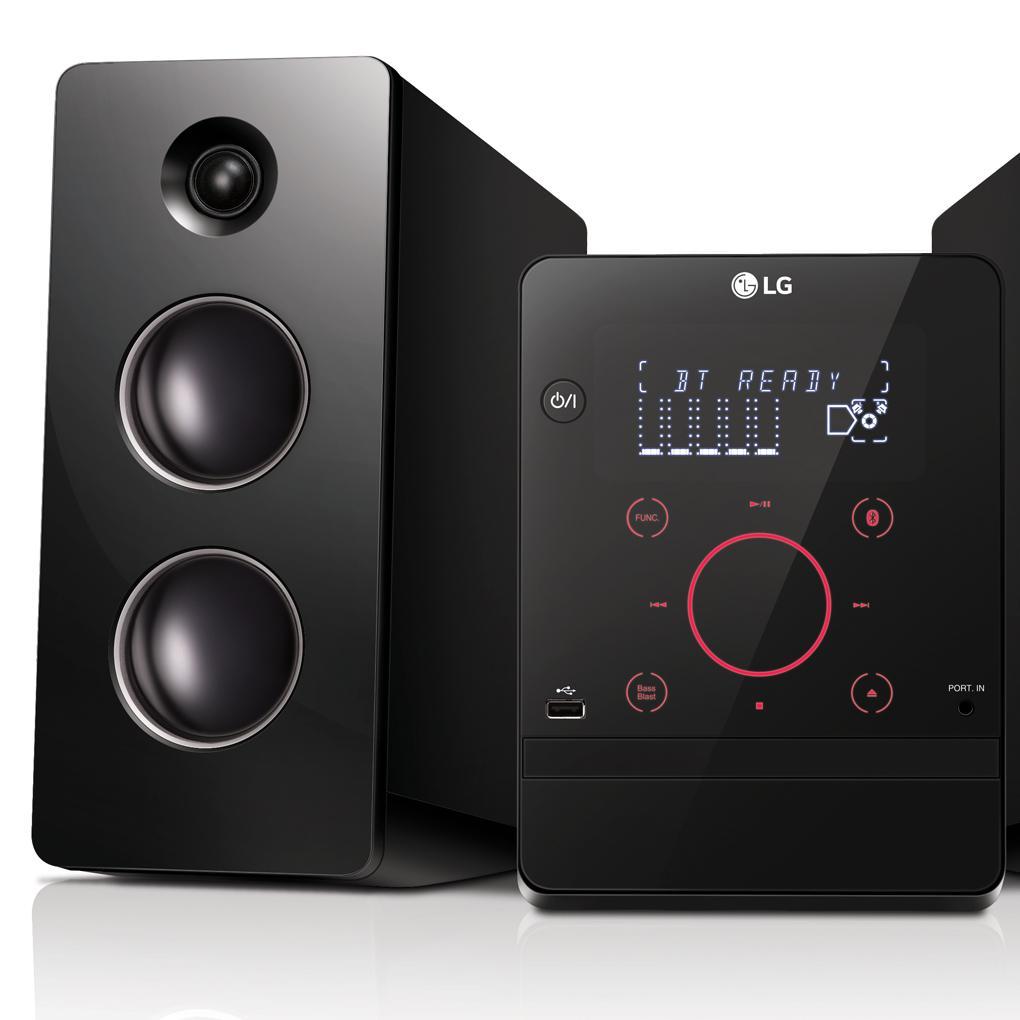LG CM2760 - Microcadena con 160W de potencia (Bluetooth, USB), color negro