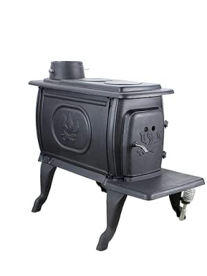 US Stove 1269E Small EPA Certified Cast Iron Logwood Stove, 54,000 BTUs