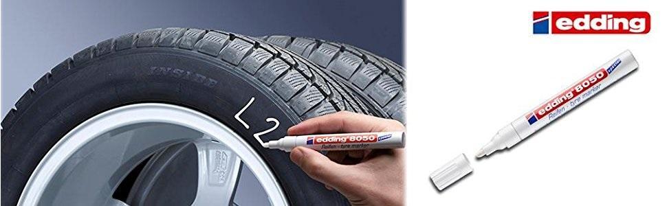 permanente, neumático, rueda, caucho, rotulador, marcador, edding, 8050,