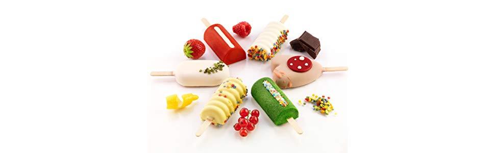 Silikomart GEL01MB MINI CLASSIC - Mini moldes de congelador para ...