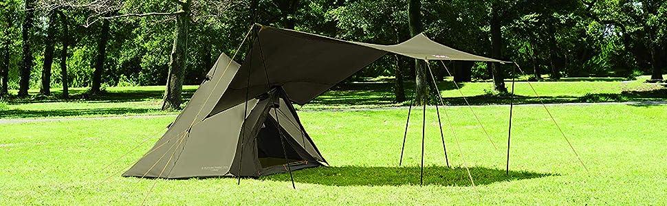 【Amazon.co.jp限定カラー】 シンプル構造のティピー型テント 「エクスカーションティピー」