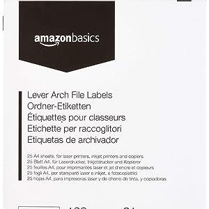 AmazonBasics - Etiquetas autoadhesivas para archivadores de ...