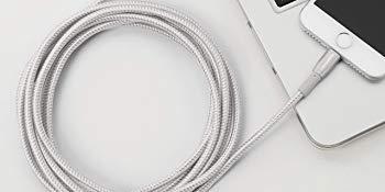 Amazonベーシック 二重編組ナイロン USB Aケーブル ライトニングコネクタ付き プレミアムコレクション MFi 認証済みiPhoneチャージャー 1.8m 2本入 レッド