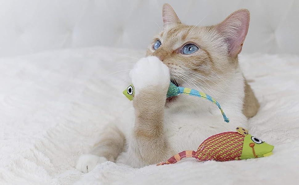 7 x 10 cm Rosewood Soft Canvas Catnip Christmas Sporut Cat Toy