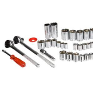 Details about  /Stalwart 52 Piece 1//4 Socket Drive SAE and Metric Set and 1//2 3//8