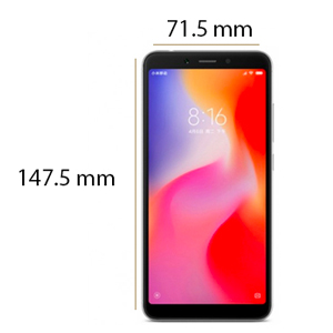 Xiaomi Redmi 6 Dual SIM - 64GB, 4GB RAM, 4G LTE, Black - International Version