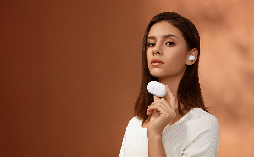 Oppo Enco W11 Bluetooth Earphones with Charging Box - White