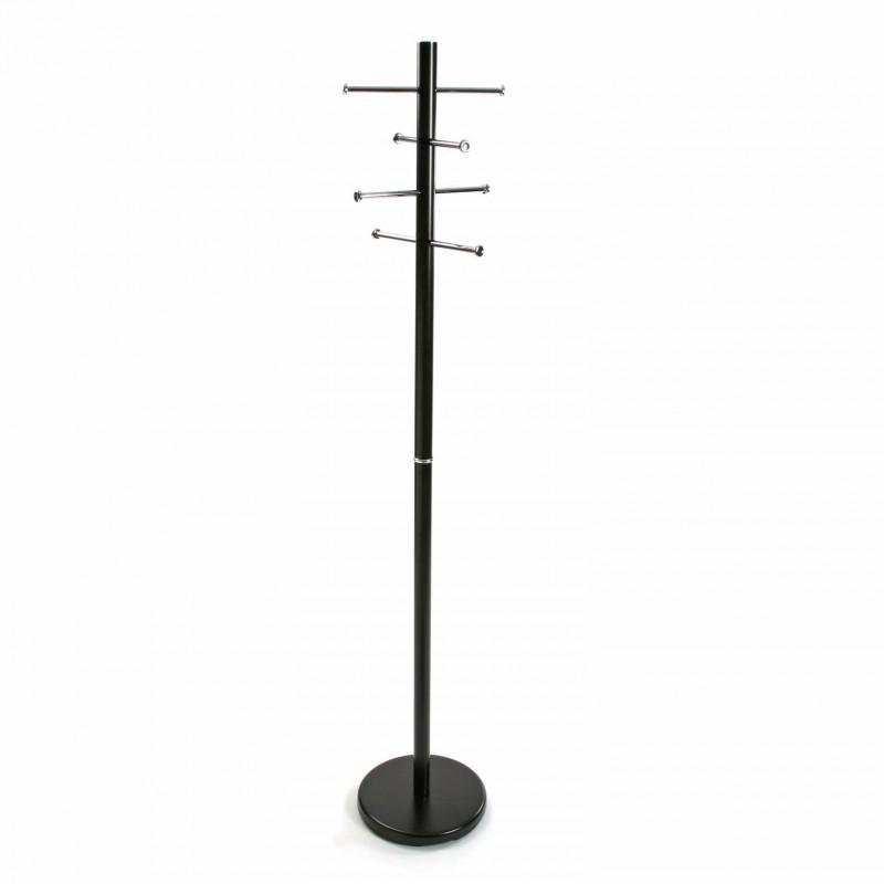 Versa 18790521 Perchero de pie Negro, 173x28x28cm, Metal, 8 colgadores