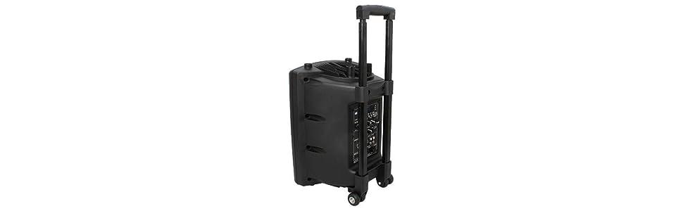 Altavoz portátil a baterías USB/VOX/Bluetooth/UHF mic