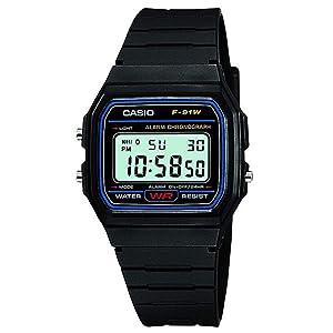 Casio Classic Unisex Digital Dial Resin Band Watch - F-91W-1, Quartz