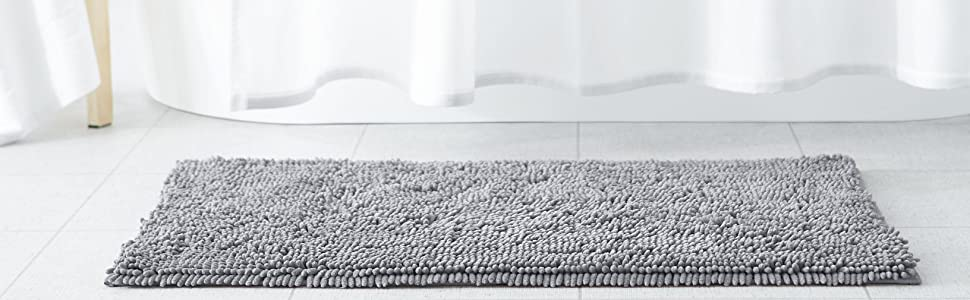 Superieur AmazonBasics Non Slip Microfiber Shag Bath Rug Collection