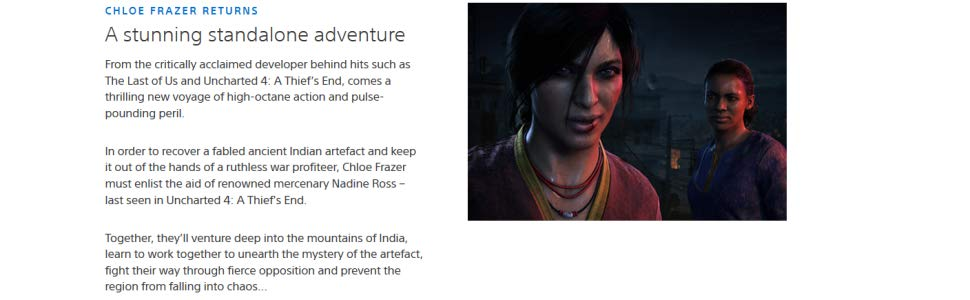 Buy Uncharted: The Lost Legacy (PS4) Online at Low Prices in