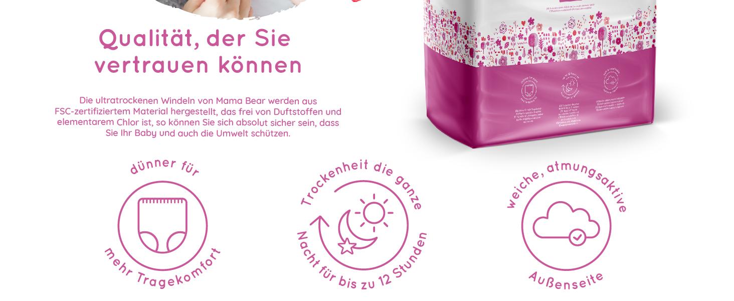 Neu Preisnachlass 15er Packung 840 Tücher Ehrlich Mama Bear Sensitive Baby-feuchttücher