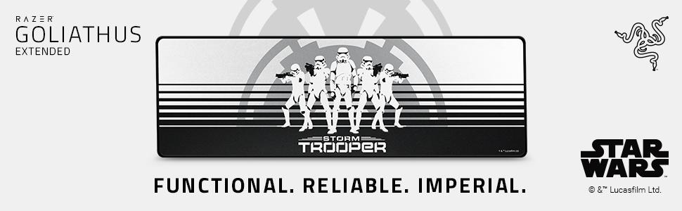 Razer Goliathus Extended Stormtrooper Edition, Star Wars, Gaming mouse mat, 2019, Disney, Imperium