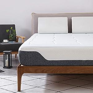 Amazon Basics - Colchón de muelles ensacados y espuma viscoelástica de gel, 90 x 200 cm