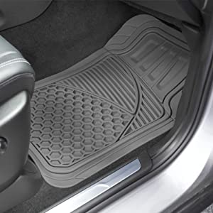 Superb Amazonbasics 4 Piece Heavy Duty Rubber Car Floor Mat Grey Evergreenethics Interior Chair Design Evergreenethicsorg