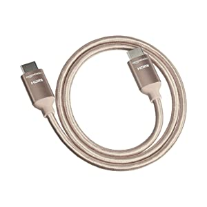 AmazonBasics - Cable HDMI trenzado de alta velocidad, dorado, de 4 ...