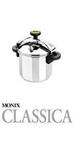 Monix Selecta Olla a presión rápida 4 litros con Sistema de selección de Alimentos y Cierre automático, Acero INOX 18/10, Plata: Amazon.es: Hogar