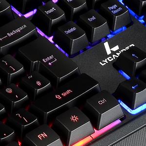 LYCANDER - Teclado Gaming Inglés con cable USB (1.8m), 19 ...