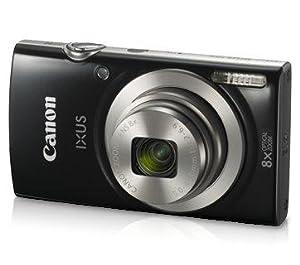 Canon IXUS 185 20MP Digital Camera with 8x Optical Zoom (Black)