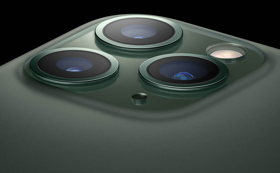 Apple iPhone 11 Pro Max with FaceTime - 64GB, 4GB RAM, 4G LTE, Midnight Green, Single SIM& E-SIM