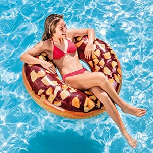 Intex 56262NP - Rueda hinchable Donut chocolate 114 cm diámetro ...