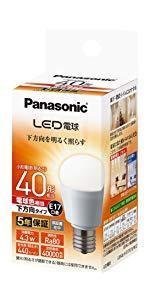 パナソニック LED電球 口金直径17mm 電球40W形相当 電球色相当(4.3W) 小型電球・下方向タイプ 1個入り 密閉形器具対応 LDA4LHE17ESW2