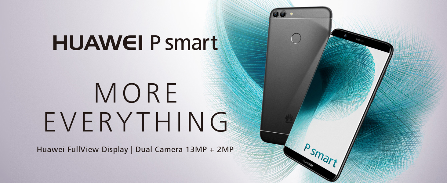 Huawei P Smart (Dual SIM) 32GB Android 8 0 UK version SIM-Free Smartphone -  Black