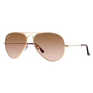 Ray-Ban Aviator Frame Unisex Sunglasses - Rb3025-001-51-55, Brown Lens