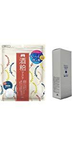 ワフードメイド酒粕マスク 10枚入りとパーフェクト雪肌フェイスパック 130g 日本製 美白、保湿、ニキビなどお肌へ SHINTECH