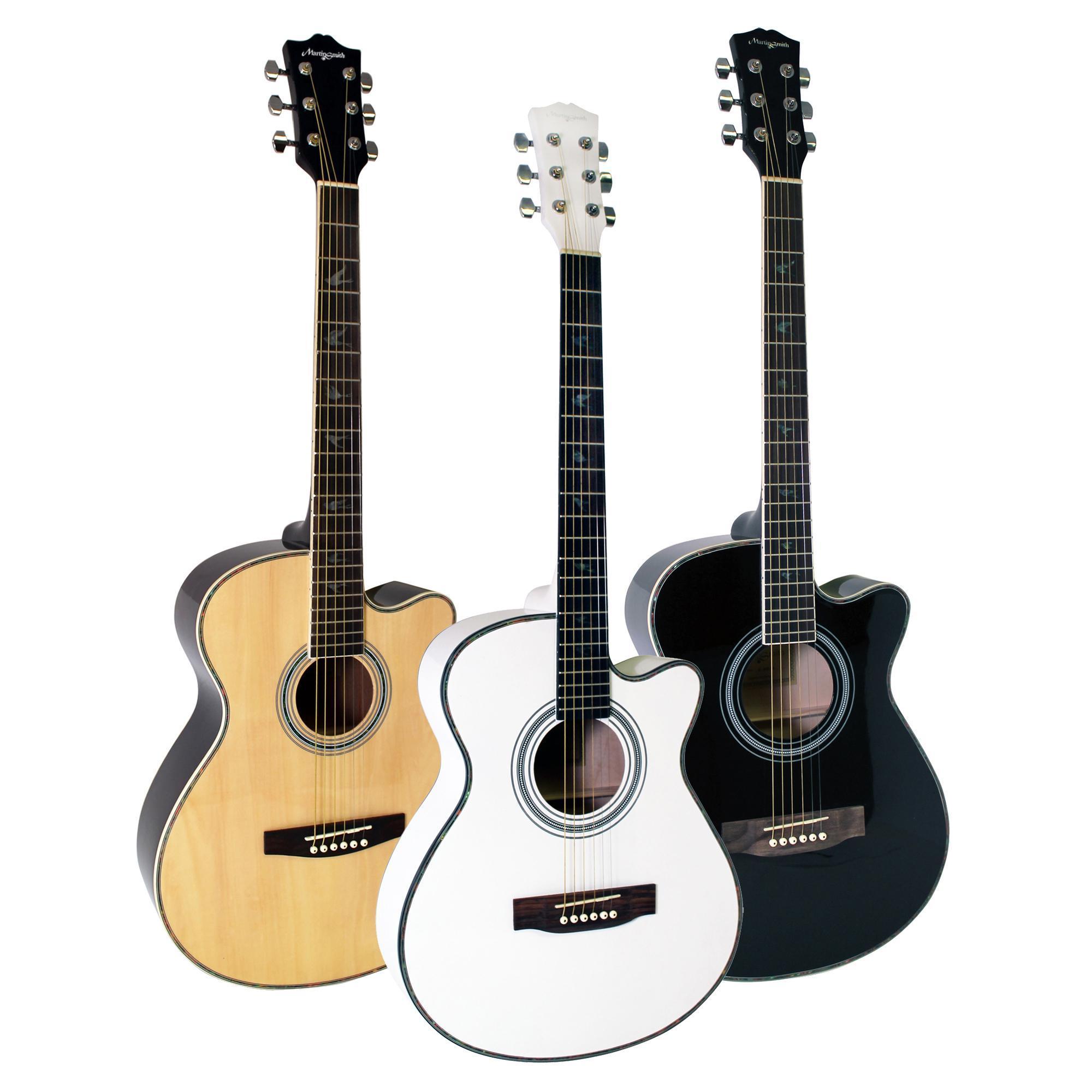 Martin Smith W-401E-BK Guitarra acústica eléctrica - color
