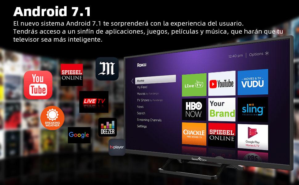 Smart-Tech SMT40P28SA41 Smart Televisor Certificación Full HD de ...