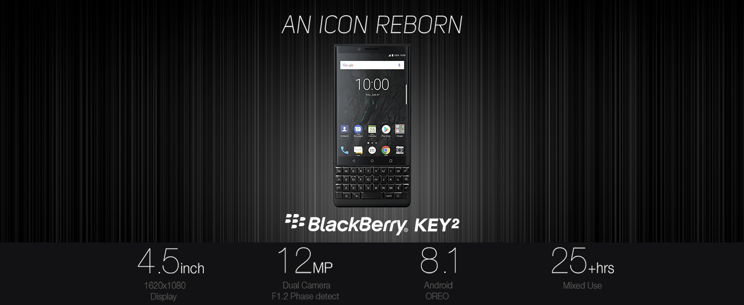 BlackBerry KEY2 Android Smartphone an Icon Reborn