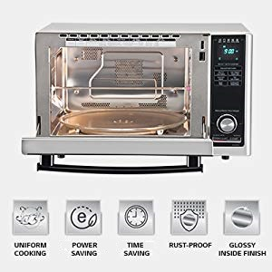 Lg 21 L All In One Convection Microwave Oven Mc2146bl