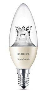 Philips LED Classic - Esférica 4W (25W) · Philips LED WarmGlow - Bombilla Vela clara de 4W (25W) · Philips SceneSwitch - Bombilla LED vela 5.5W (40W) ...