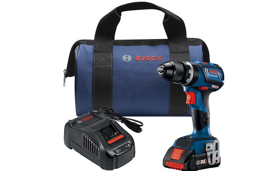 Bosch Gsb18v 535cb15 18v Ec Brushless Connected Ready Compact Tough 1 2 In Hammer Drill Driver With 1 Core18v 4 0 Ah Compact Battery Home Improvement