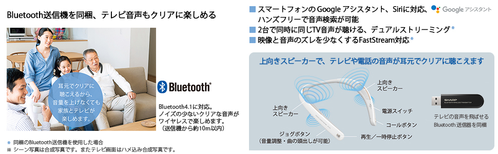 AN-SS1 Bluetooth Googleアシスタント デュアルストリーミング FastStream
