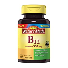 b0e9405676c Amazon.com  Nature Made Vitamin B12 500 mcg. Tablets Value Size 200 ...