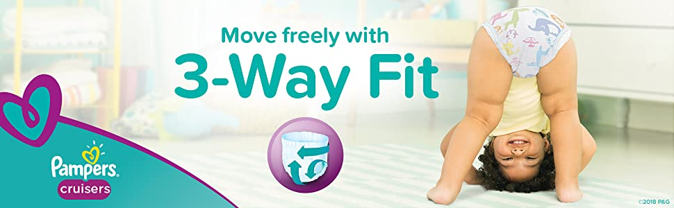 Move freely with 3-Way Fit